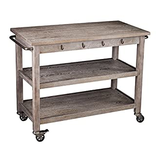 SEI Furniture Whitewash Burnt Oak Kitchen Cart - Locking Castor Wheels - 3 Tier Design (B075NXCCKV)   Amazon price tracker / tracking, Amazon price history charts, Amazon price watches, Amazon price drop alerts