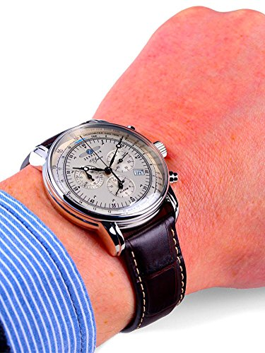 ZEPPELIN(ツェッペリン)腕時計ツェッペリン100周年記念モデルアイボリー×ブラウン7680-1メンズ[並行輸入品]
