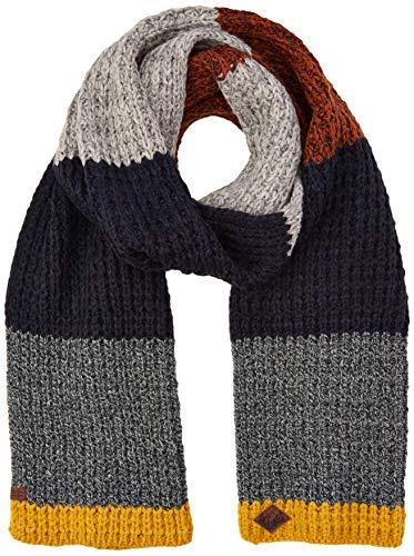 camel active Herren 407350/2V35 Schal, Grau (Grey/Blue Mixed 07), One Size (Herstellergröße: OS)