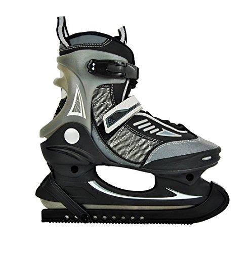 Hochwertige Herren Schlittschuhe Softboot Eislaufschuhe EishockeyJungen Grau/Schwarz 40