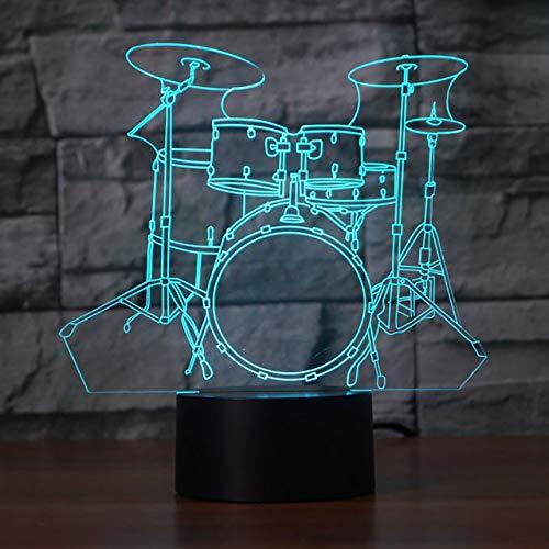 Lámpara de ilusión óptica 3D con batería, 7 colores, interruptor táctil, ilusión, luz nocturna, para dormitorio, hogar, decoración, boda, cumpleaños, Navidad, regalo de San Valentín