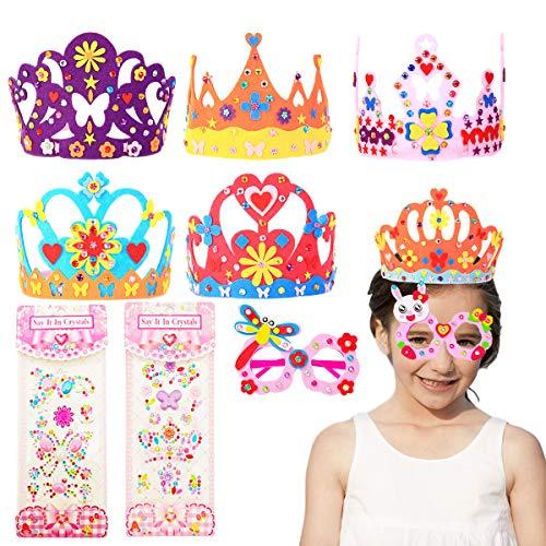 Gorros de Fiesta,Sombreros del La Fiesta de Cumpleaños,Kit Manualidades Niños,Cumpleaños Fiestas Accesorios,Kit de Arte Artesanal de Fiesta,para Niños Cumpleaños