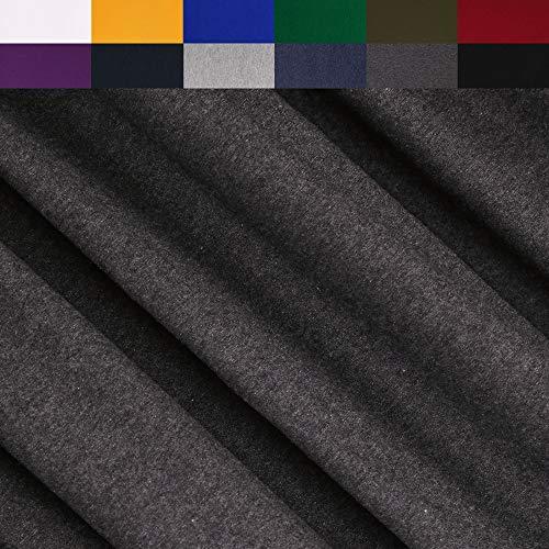 FabricLA Turkish Cotton Jersey Spandex Blend 4 Way Stretch (190GR - 1 Yard) - Charcoal