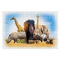 1000ピース ジグソーパズル 風景 野生動物保護の日家に野生動物。または野生動物保護 子供 おもちゃ 室内 プレゼント 誕生日プレゼント 女の子 男の子 知育玩具