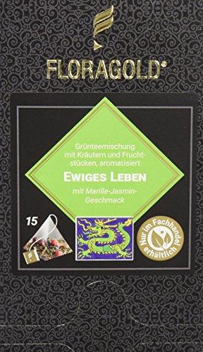 FLORAGOLD Pyramidenbeutel grüner Tee Ewiges Leben, 1er Pack (1 x 45 g)