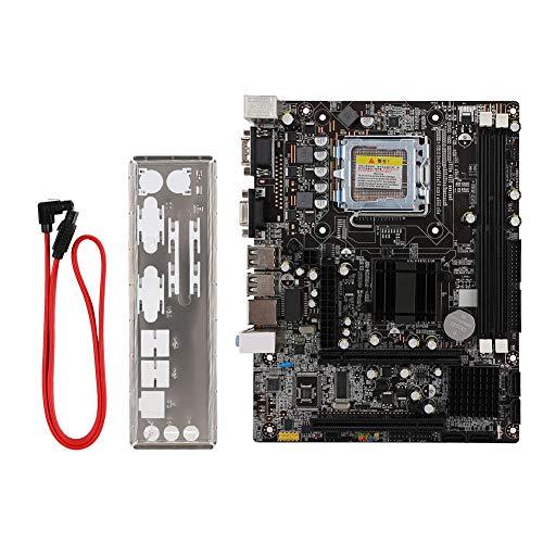 Diyeeni Placa Base para computadora, Placa Base para computadora de Escritorio con Ranura PCI-E/PCI/USB 2.0 / SATA2.0 / IDE, Placa Base Profesional para chipset Intel 945GC + ICH