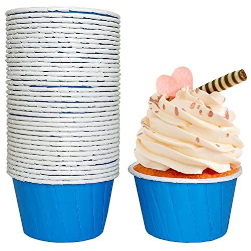 Tobeso 50 Stücke Cupcake Formen Papier Muffinförmchen Papier Antihaftbeschichtet Einweg-Backbecher für Halloween Geburtstage Hochzeiten Partys