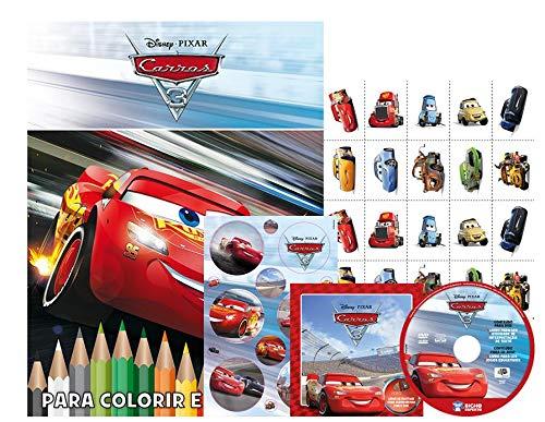 Disney Kit 5 Em 1 Com Dvd - Carros 3