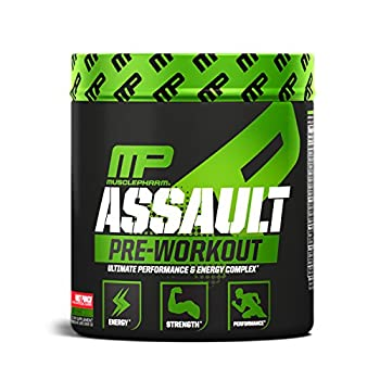 MusclePharm Assault Pre-Workout Powder with High-Dose Energy Focus Strength and Endurance Fruit Punch 30 Servings