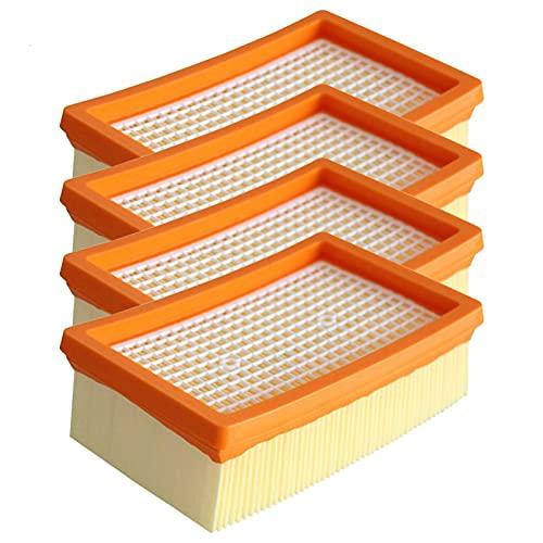 IUCVOXCVB Accesorios de aspiradora 4X Filtros Plisados Planos Ajuste DE REEMPLAZO para KARCHER VACÍA CLEABLE MV6 2.863-005.0 Piezas de aspiradora Piezas Sweeper Filter Reemplazo
