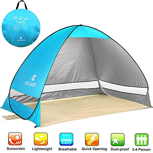 NOTENS Abris de Plage, Pop-up Automatique Plage Shelter Famille Tentes portatives Protection Contre...