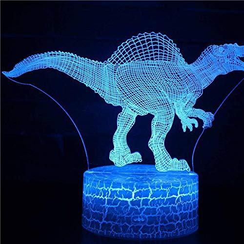 Cartoon Alte Tiere Drachen Monster Tyrannosaurus Dinosaurier Park Schreibtisch Tisch Stempel 3D USB Acryl Geschenk Nachtlicht Kinder Schlafzimmer Dekoration Geschenk