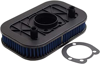 WOOSTAR Motorcycle Square Air Filter - Made of CNC Metal - Repalcement for Harley Sportster XL883 XL1200 2004-2013 Air Cleaner