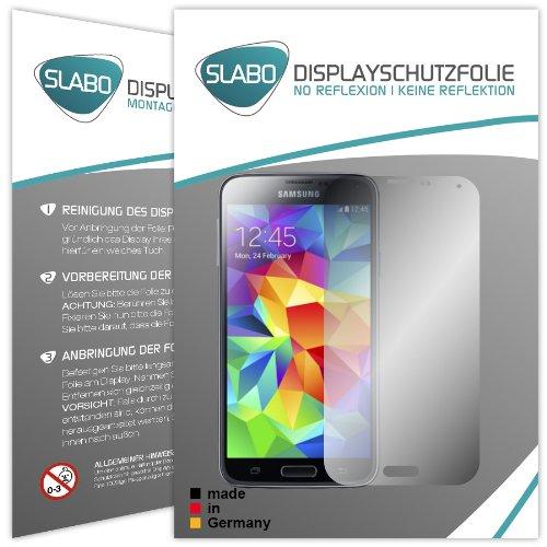 Slabo 4 x Displayschutzfolie für Samsung Galaxy S5 / S5 Neo Displayschutz Schutzfolie Folie MATT No Reflexion-Keine Reflektion - Entspiegelnd