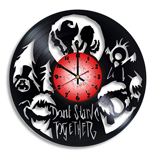 Don't Starve Together Computer Game Logo Handmade Vinyl Record Wall Clock, Don't Starve Together Kitchen Decor, Don't Starve Together Gift for him and her