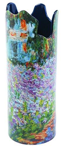 Dartington John Beswick Monet Irises In Garden Vase en céramique Hauteur : 25 cm Diamètre : 9,5 cm Parastone SDA031