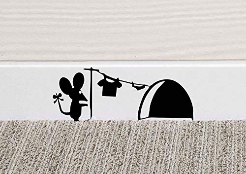 213B Mouse Hole Wall Art Sticker Washing Vinyl Decal Mice Home Skirting Board...