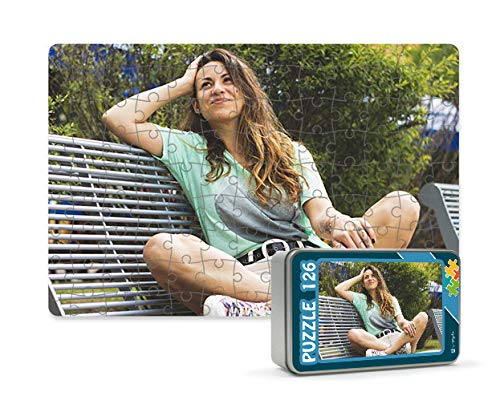 Getsingular Puzzles magnéticos 126 Piezas Personalizados con Foto y Texto | Máxima Calidad de impresión |Tamaño: 126 Piezas (27 x 18 cm) - con Caja Personalizada