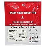 1 x Blood Type Test Kit - Group A, B, RhD Testing - Home EldonCard Tests