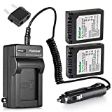 Kastar Battery (2 Pack) and Charger Kit for Panasonic CGA-S002 CGR-S002 DMW-BM7 and Panasonic Lumix DMC-FZ1 DMC-FZ2 DMC-FZ3 DMC-FZ4 DMC-FZ5 DMC-FZ10 DMC-FZ15 DMC-FZ20 Cameras