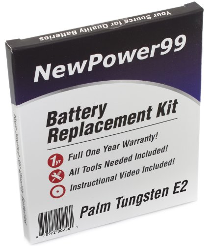 NewPower99 Battery Replacement Kit with Battery, Video Instructions and Tools for Palm Tungsten E2