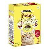 PURINA FRISKIES Crocchette Gatto Adult con Manzo e Pollo, 20 Confezioni da 400 g Ciascuna, Peso Totale 8 kg