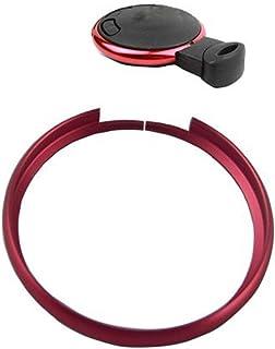 RSFOW Fashion Smart Schlüsselring Rim Trim Abdeckung Direct kompatibel mit Mini Cooper (ohne Schlüssel), rot