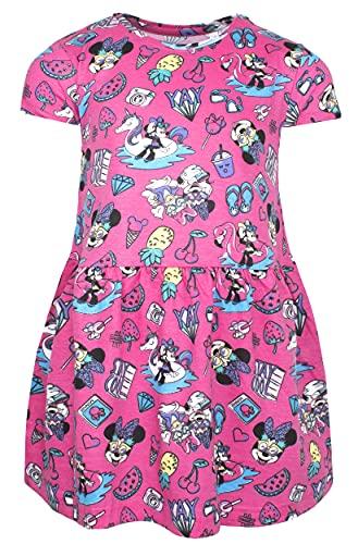 Disney - Vestido de Minnie Mouse - Vestidos de verano para niñas - Vestido de fiesta - Minnie Mouse Ropa para niños, rosa, 4-5 Años