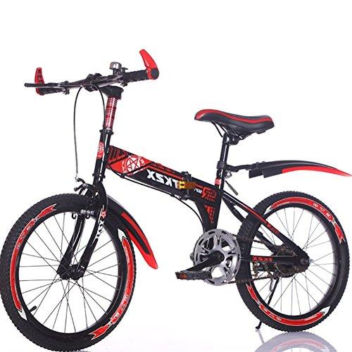 YEARLY Bambini bici pieghevole, Bici pieghevoli studente Ragazzo Luce portatile Mountainbike Bicicletta pieghevole-Rosso 22inch