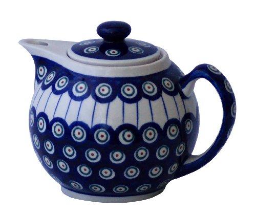 Original Bunzlauer Teekanne 1.0L - moderne Form - im Dekor 8