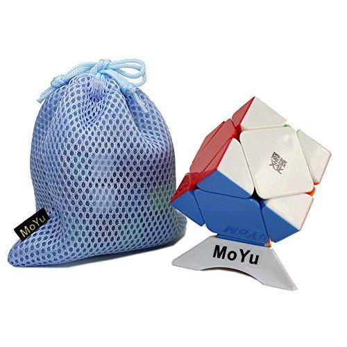OJIN MoYu Aoyan M Skewb Puzzle mágico del Cubo Puzzle mágico Suave Juguete del Cubo con un trípode y un Cubo (Sin Etiqueta)