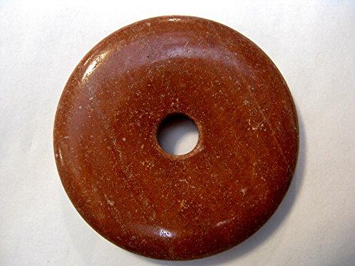Natural mente – Donut, env. 4 cm, pendentif, collier Chin. Jaspe, pierres précieuses,, Semi, Chin. Jaspe, n ° 1