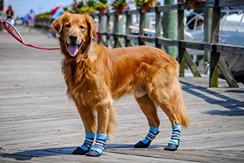Bark Brite New Lightweight Neoprene Paw Protector Dog Boots Designed for Comfort and Breathability in 5 Sizes (XL)