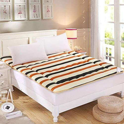 YLCJ matras, opvouwbaar, gestreept, comfortabel kussen van Japanse tatami voor matrassen - 90 x 200 cm (35 x 79 inch)
