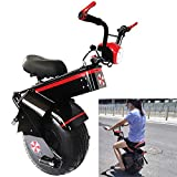 myself Electric Unicycle for Adults 1500W 60V One Wheel 18inchs Self-Balancing Scooter with Seat Motorcycle Load Capacity 150kg for Beginner Kids Adult Exercise Fun Fitness Commute