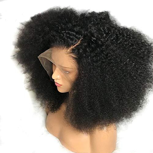 Perruque en dentelle brésilienne crépue bouclée sur le devant avec perruque frontale en dentelle sans colle et cheveux bouclés