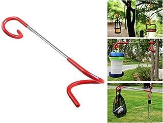 Multi-purpose Camping Lantern Hanger Holder, Mini-Factory 2 way Hanger Lantern, Bag, Utensil Hanger Hook for Outdoor Camping Fishing