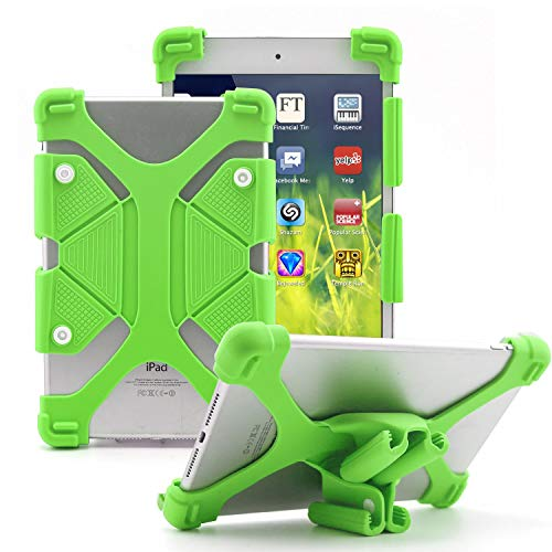EAGWELL Universal 10 inch Tablet Case, Shockproof Silicone Protective Stand Cover for iPad 2018, Samsung Galaxy Tab S2 S3 9.7 inch, Kindle Fire HD 8.9 ,Huawei T3 10 AGS-W09 ,Green