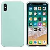 CABLEPELADO Funda Silicona iPhone X/XS Textura Suave Color Verde Claro