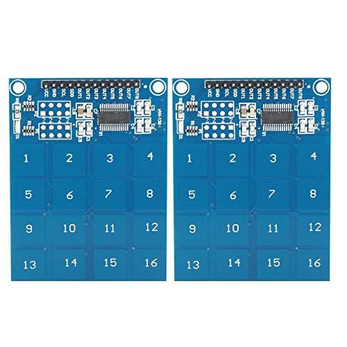 wosume 【𝐅𝐫𝐮𝐡𝐥𝐢𝐧𝐠 𝐕𝐞𝐫𝐤𝐚𝐮𝐟 𝐆𝐞𝐬𝐜𝐡𝐞𝐧𝐤】 Modul Modul Sensor, Berührungssensormodul TTP229 Kapazitive Digitale 16-Kanal-Elektrogeräte