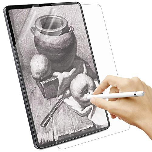Sross [2 Pezzi Effetto Carta Pellicola Prottetiva per iPad PRO 12.9, iPad PRO 12,9  2021 2020 2018 Feel Like Paper Pellicola di Carta Pet Opaca, Supporta i Pencil, Antiriflesso