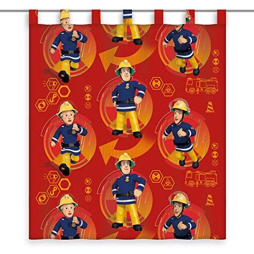 Herding gordijn brandweerman Sam, polyester, rood, 160 x 140 cm