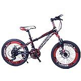 YUCHEN- Bicicletas for niños Bicicleta de montaña al aire libre Montaña Estudiante Bicicleta Adultos Niños Variable Velocidad \ u200b \ u200biciclo 3 ~ 15 años Pedal Bicicleta (Color: Amarillo, Tamaño