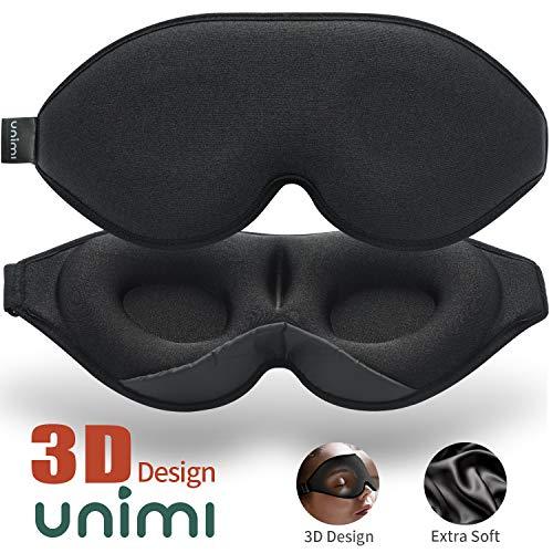 2020 Verbesserte Schlafmaske und Augenmaske für Frauen und Männer, weiche Augenmaske aus 3D konturiertem Lycra Material, 100{52e4f8ff55e7fc703b9ab2bca337a7bdc6e8888e56c6f02010832bd5200f4e94} Lichtblockierende Schlafbrille für Reisen, Nickerchen-Schwarz