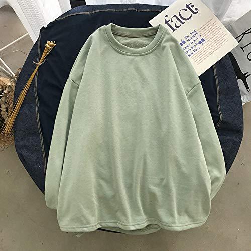 T Shirts Manches Longues,Men'S Pure Couleur Col Rond Style Hong Kong Vert Sauvages Occasionnels,Tee Shirt De Sport Quick-Drying Respirant Vêtements D'Affaires Chandail Tricoté Veste Stretch Vêteme