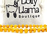 Genuine Baltic Amber Necklace by Lolly Llama - Certified from The Baltic Sea - Honey