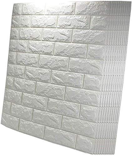 Piedra de Ladrillo Paneles de Pared Autoadhesivos Pegatina de pared estéreo 3D, Peel and Stick Wallpaper 3D Pegatina engomada engomada mural Techo, Arte impermeable Paneles de pared Decorativos 3D Ade