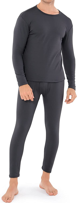 WEERTI Thermal Underwear for Men, Long Johns Base Layer Fleece L