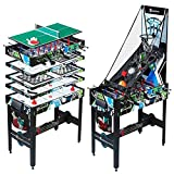 MD Sports 48 Inch 12 in 1 Combo Manual Scoring System Multi Game Room...