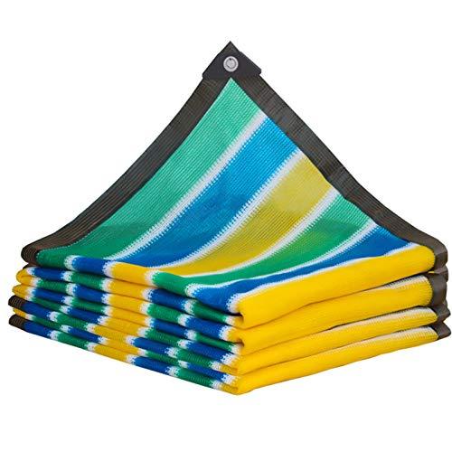 XQHD 90% Toldo Vela de Sombra Rectangular, toldos y Velas Toldo Parasol para Patio, Exteriores, Jardín,stripe-4x8m